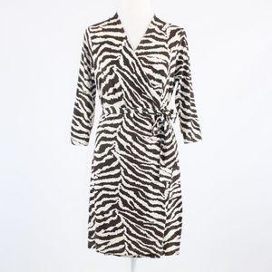 Kenneth Cole brown zebra dress S